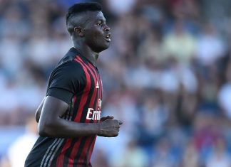M'Baye Niang during Bordeaux-Milan at Stade Armandie on July 16, 2016 (NICOLAS TUCAT/AFP/Getty Images)