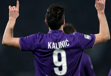 Nikola Kalinić celebrates during Fiorentina-Torino at Stadio Artemio Franchi on February 27, 2017. (Photo by Gabriele Maltinti/Getty Images)