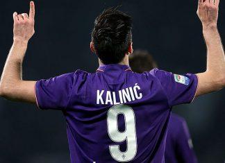 Nikola Kalinić celebrates during Fiorentina-Torino at Stadio Artemio Franchi on February 27, 2017. (Photo by Gabriele Maltinti/Getty Images)