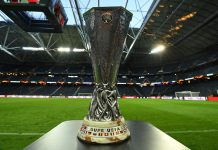 The UEFA Europa League trophy ahead of the UEFA Europa League Final between Ajax and Manchester United at Friends Arena on May 23, 2017 in Stockholm, Sweden. (Photo by Mike Hewitt/Getty Images)