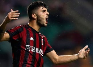 Patrick Cutrone during Milan-Dortmund at University Town Sports Centre Stadium on July 18, 2017 in Guangzhou, China. (Photo by Lintao Zhang/Getty Images)