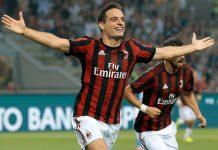 Giacomo Bonaventura celebrates during Milan-Craiova at Stadio San Siro on the 3rd of August, 2017. (Photo by Emilio Andreoli/Getty Images)