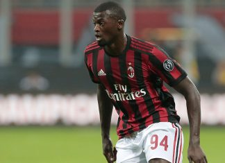 Niang during Milan-Craiova at Stadio San Siro on August 3, 2017. (Photo by Emilio Andreoli/Getty Images)