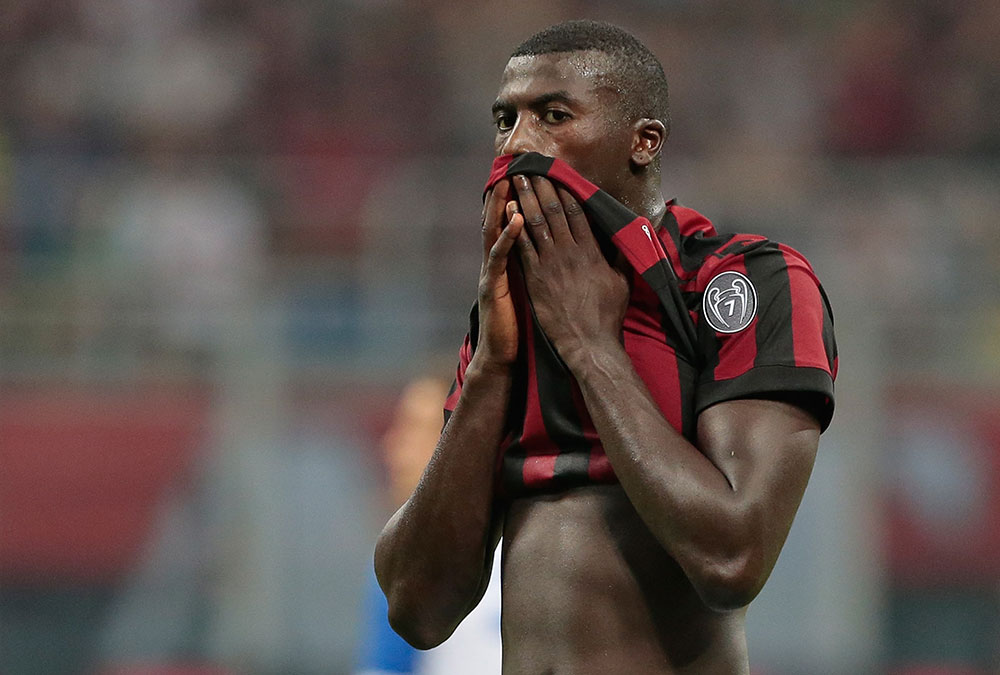 M'Baye Niang during Milan-Craiova at Stadio San Siro on August 3, 2017. (Photo by Emilio Andreoli/Getty Images)