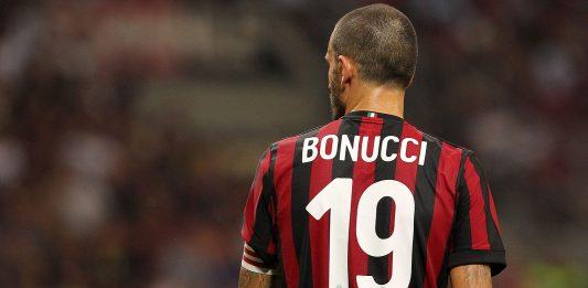Leonardo Bonucci during Milan- Shkëndija at Stadio San Siro on August 17, 2017. (Photo by Marco Luzzani/Getty Images)