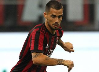 Suso during Milan-Shkëndija at Stadio Giuseppe Meazza on August 17, 2017 in Milan, Italy. (Photo by Marco Luzzani/Getty Images)