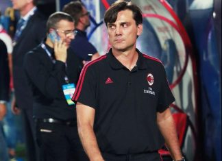 Vincenzo Montella during Crotone-Milan at the Ezio Scida Stadium on August 20 2017. (CARLO HERMANN/AFP/Getty Images)