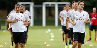 The team during training at Milanello. (@acmilan.com)