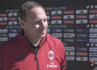 Stefano Mazzoni talking to MilanTV at Milanello on the 12th of September, 2017. (@acmilan.com)