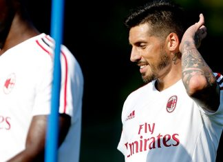 Jose Sosa during training at Milanello. (@acmilan.com)