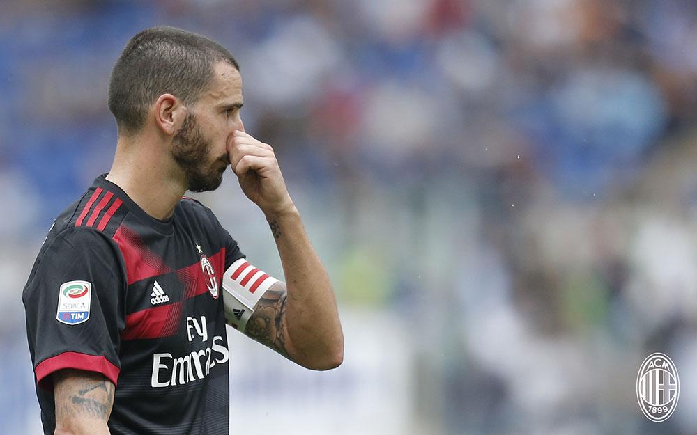 Leonardo Bonucci during Lazio-Milan at Stadio Olimpico on the 10th of September, 2017. (@acmilan.com)