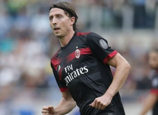 Riccardo Montolivo during Lazio-Milan at Stadio Olimpico on the 10th of September, 2017. (@acmilan.com)