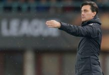 Vincenzo Montella during Austria Wien-Milan at Ernst-Happel-Stadion on the 14th of September, 2017. (@acmilan.com)