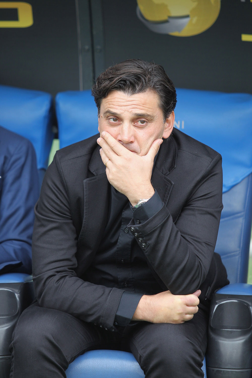 Vincenzo Montella during Lazio-Milan at Stadio Olimpico on the 10th of September, 2017. (Photo by Paolo Bruno/Getty Images)