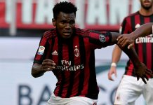 Franck Kessié during Milan-Udinese at Stadio San Siro on the September 17, 2017. (Photo by Claudio Villa/Getty Images)