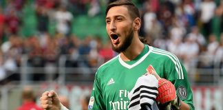 Gianluigi Donnarumma at the end of Milan-Udinese at Stadio San Siro on the September 17, 2017. (Photo by Claudio Villa/Getty Images)