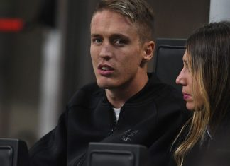 Andrea Conti during Milan-SPAL at Stadio San Siro on September 20, 2017. (Photo by Claudio Villa/Getty Images)