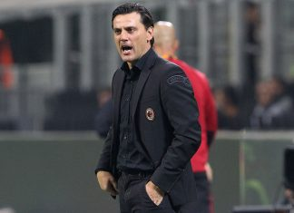 Vincenzo Montella during Milan-Rijeka at Stadio San Siro on September 28, 2017. (Photo by Marco Luzzani/Getty Images)