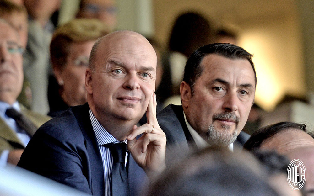 Marco Fassone and Massimiliano Mirabelli. (@acmilan.com)