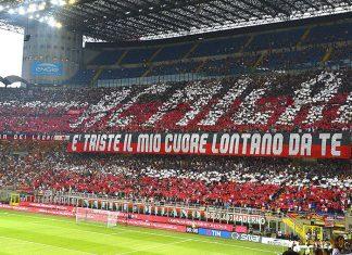 Fans before Milan-Craiova at Stadio San Siro on August 3, 2017. (@acmilan.com)