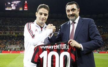Giacomo Bonaventura and Massimiliano Mirabelli before Milan-SPAL at Stadio San Siro on September 20, 2017. (@acmilan.com)
