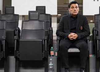 Vincenzo Montella before Milan-SPAL at Stadio San Siro on September 20, 2017. (@acmilan.com)