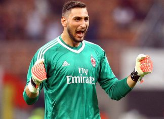 Gianluigi DOnnarumma during Milan-Shkëndija at Stadio San Siro on August 17, 2017. (@acmilan.com)