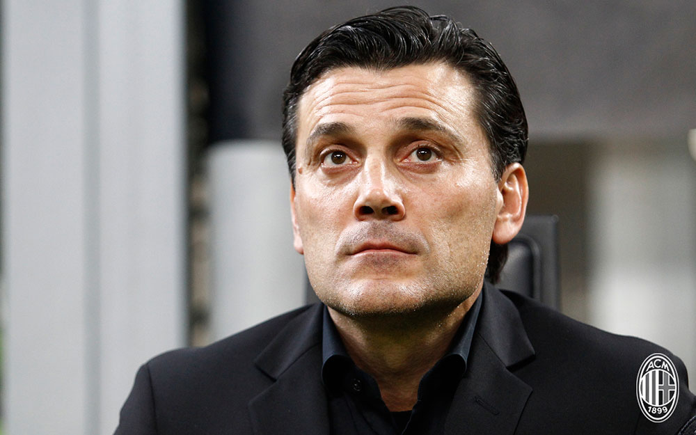 Vincenzo Montella during Milan-Rijeka at Stadio San Siro on September 28, 2017. (@acmilan.com)