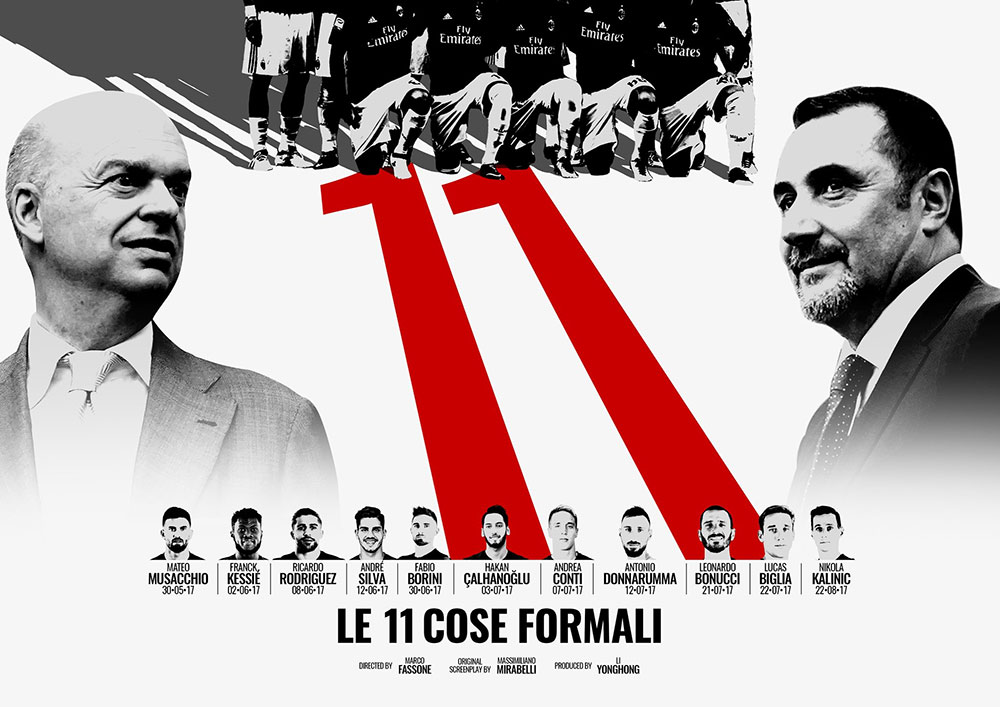 Marco Fassone and Massimiliano Mirabelli movie poster. (@acmilan.com)