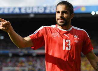 Ricardo Rodriguez during the UEFA EURO 2016 Group A match between Romania and Switzerland at Parc des Princes on June 15, 2016 in Paris, France. (Photo by Shaun Botterill/Getty Images)