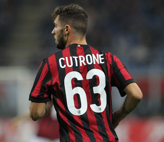 Patrick Cutrone during Milan-Rijeka at Stadio San Siro on September 28, 2017. (Photo by Marco Luzzani/Getty Images)