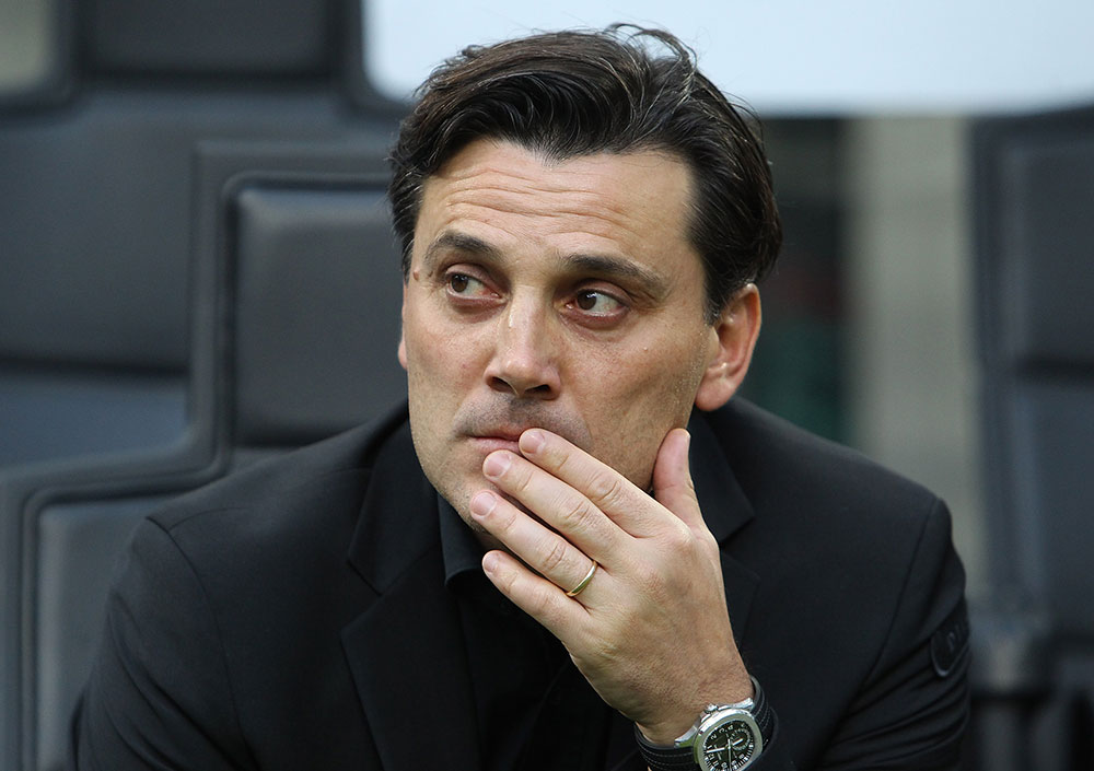 Vincenzo Montella during Milan-Roma at Stadio San Siro on October 1, 2017. (Photo by Marco Luzzani/Getty Images)