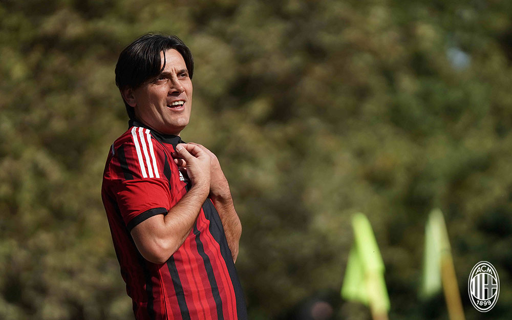 Vincenzo Montella during a Milan team building event at Milanello on October 9, 2017. (@acmilan.com)