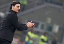 Vincenzo Montella during Inter-Milan at Stadio San Siro on October 15, 2017. (@acmilan.com)