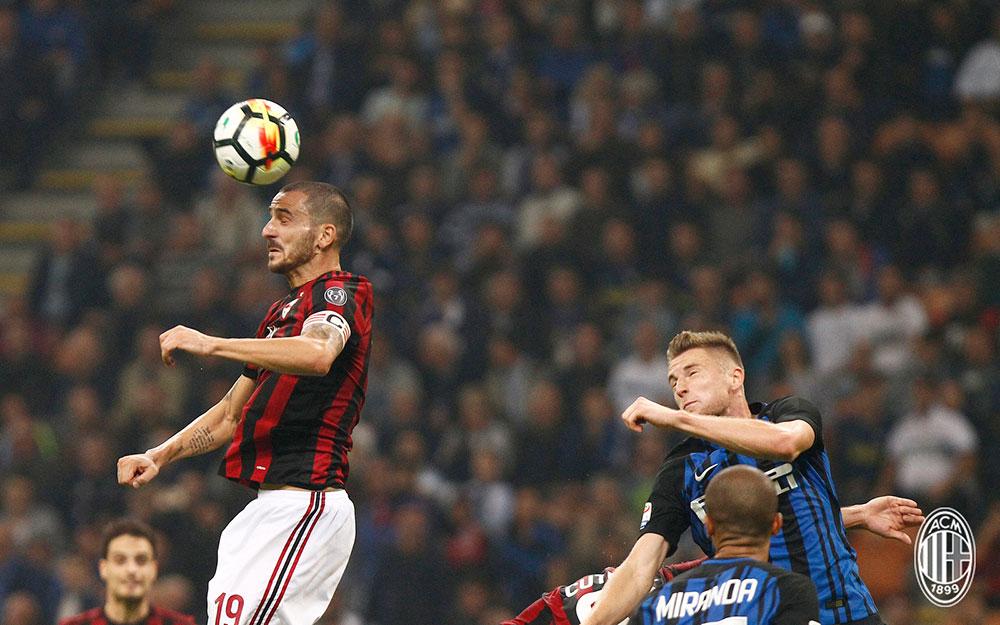 Leonardo Bonucci during Inter-Milan at Stadio San Siro on October 15, 2017. (@acmilan.com)