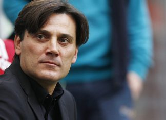 Vincenzo Montella during Milan-Genoa at Stadio San Siro on October 22, 2017. (@acmilan.com)