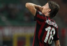 Riccardo Montolivo celebrating during Milan-Shkëndija at Stadio San Siro on August 17, 2017. (Photo by Marco Luzzani/Getty Images)