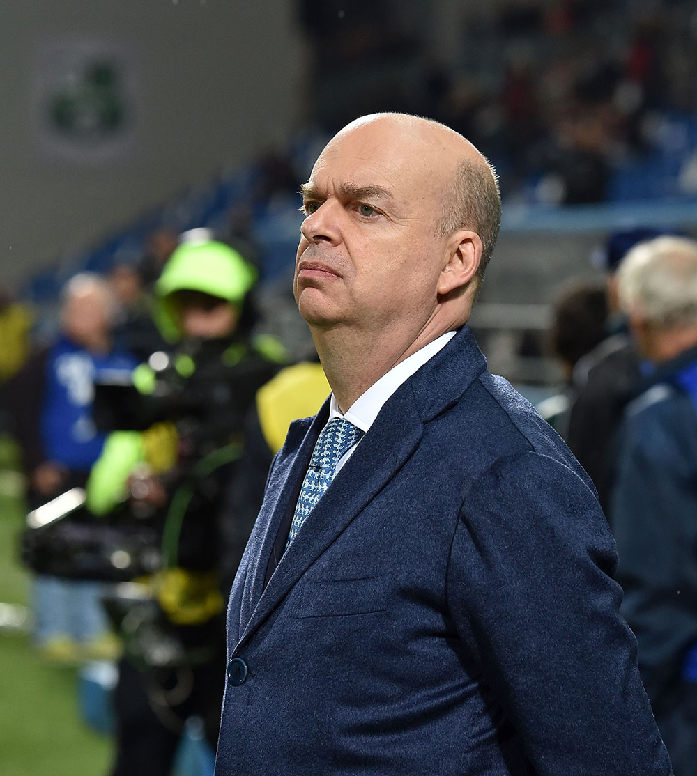 Marco Fassone before Sassuolo-Milan at Stadio Città del Tricolore on October 5, 2017. (Photo by Giuseppe Bellini/Getty Images)