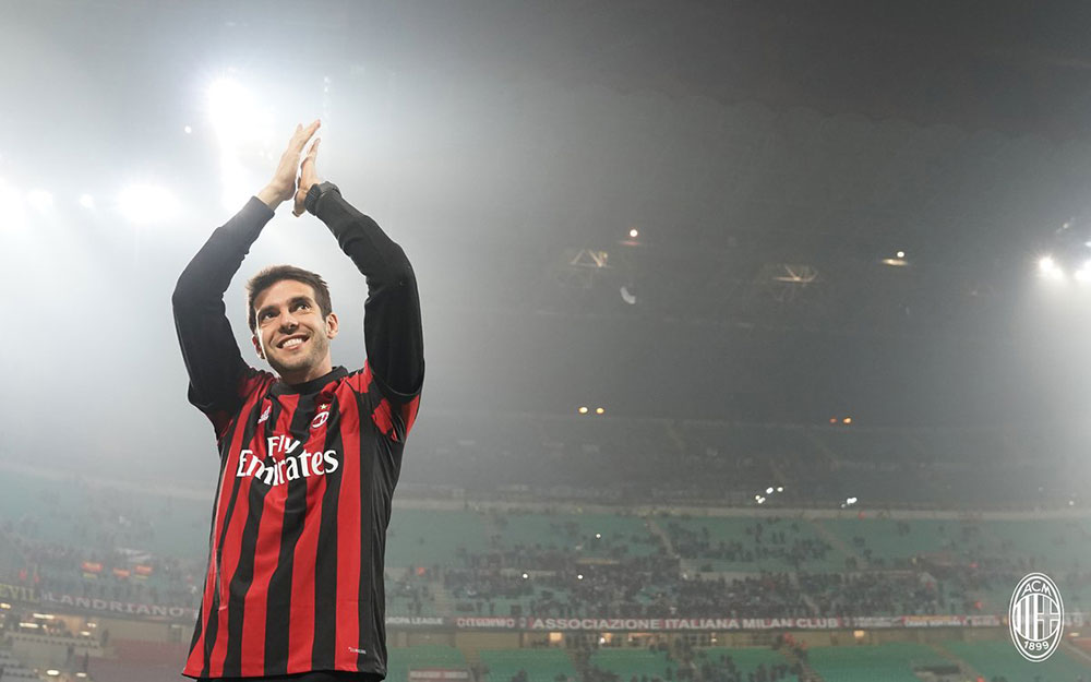 Kaka during Milan-Austria Wien at Stadio San Siro on November 23, 2017. (@acmilan.com)