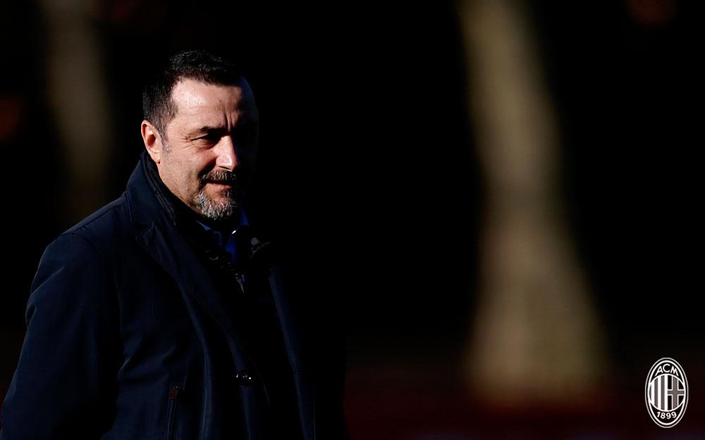 Massimiliano Mirabelli at Milanello on December 6, 2017. (@acmilan.com)