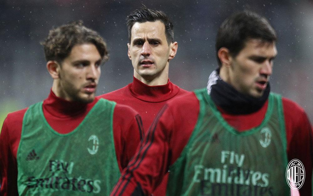 Nikola Kalinić before Milan-Inter at Stadio San Siro on December 27, 2017. (@acmilan.com)