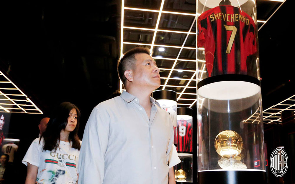 Yonghong Li at Mondo Milan Museum at Casa Milan on August 28, 2017. (@acmilan.com)