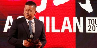 Yonghong Li during a Milan event in Guangzhou, China, on the 16th of July, 2017. (@acmilan.com)