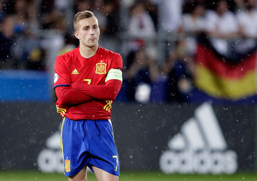 Gerard Deulofeu during the UEFA European Under-21 Championship Final between Germany and Spain at Krakow Stadium on June 30, 2017 in Krakow, Poland. (Photo by Nils Petter Nilsson/Ombrello/Getty Images)