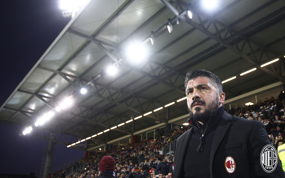 Gennaro Gattuso during Cagliari-Milan at Sardegna Arena on January 21, 2018. (Photo by Enrico Locci/Getty Images)