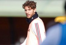 Manuel Locatelli during training at Milanello. (@acmilan.com)