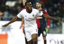 Franck Kessié celebrating during Cagliari-Milan at Sardegna Arena on January 21, 2018. (@acmilan.com)