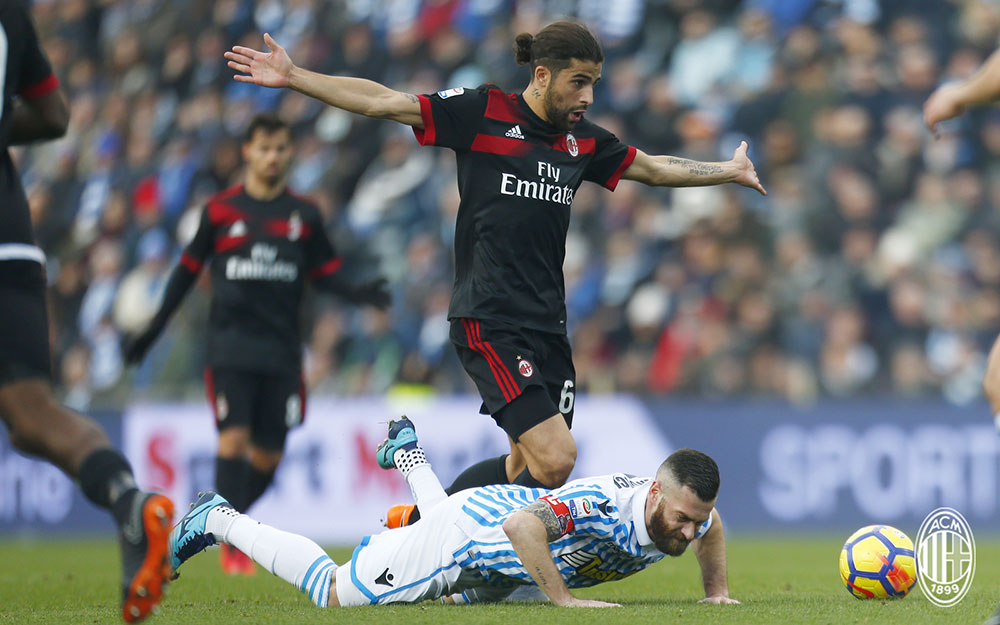 Ricardo Rodriguez during SPAL-Milan at at Stadio Paolo Mazza on February 10, 2018. (@acmilan.com)