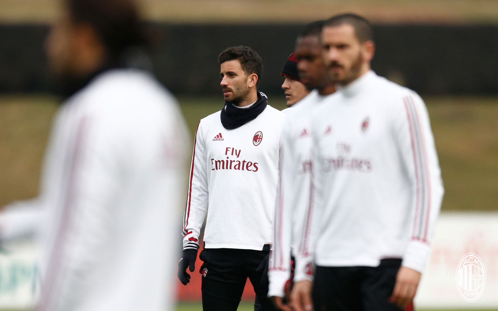 Mateo Musacchio during training at Milanello. (@acmilan.com)