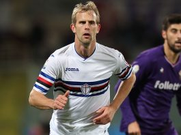 Ivan Strinić during Fiorentina-Sampdoria at Stadio Artemio Franchi on December 13, 2017. (Photo by Gabriele Maltinti/Getty Images)